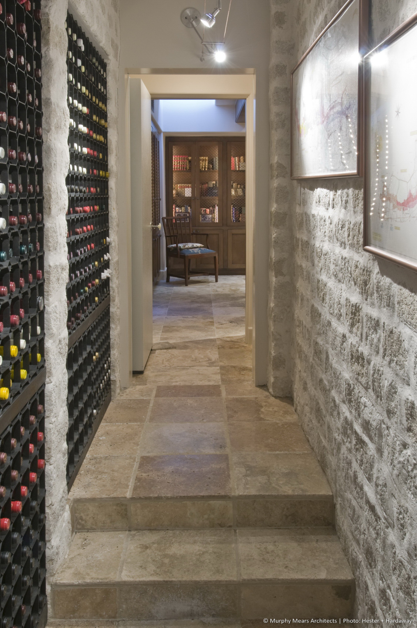w-a-symmetrical-house-wine-room-hall