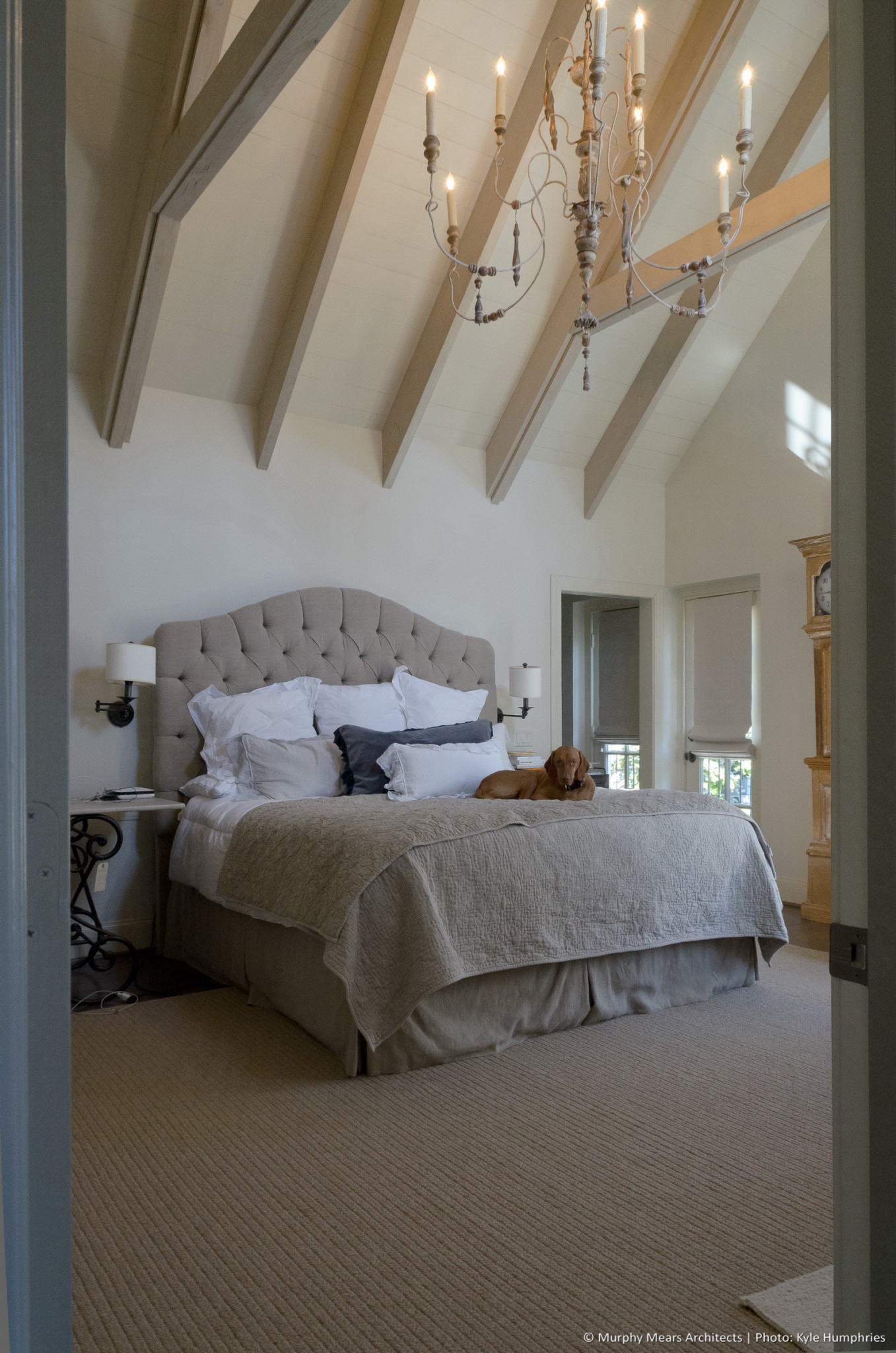 Pemberton Residence - New master bedroom addition with vaulted ceiling and high natural light.