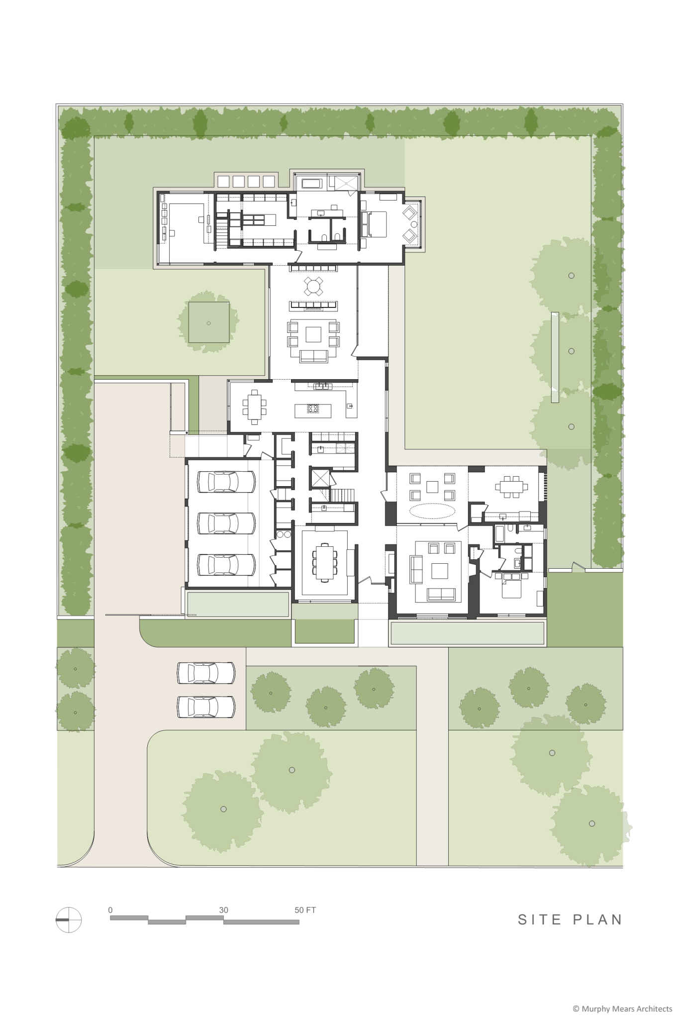 Gallery house murphy mears architects for Modern site plan