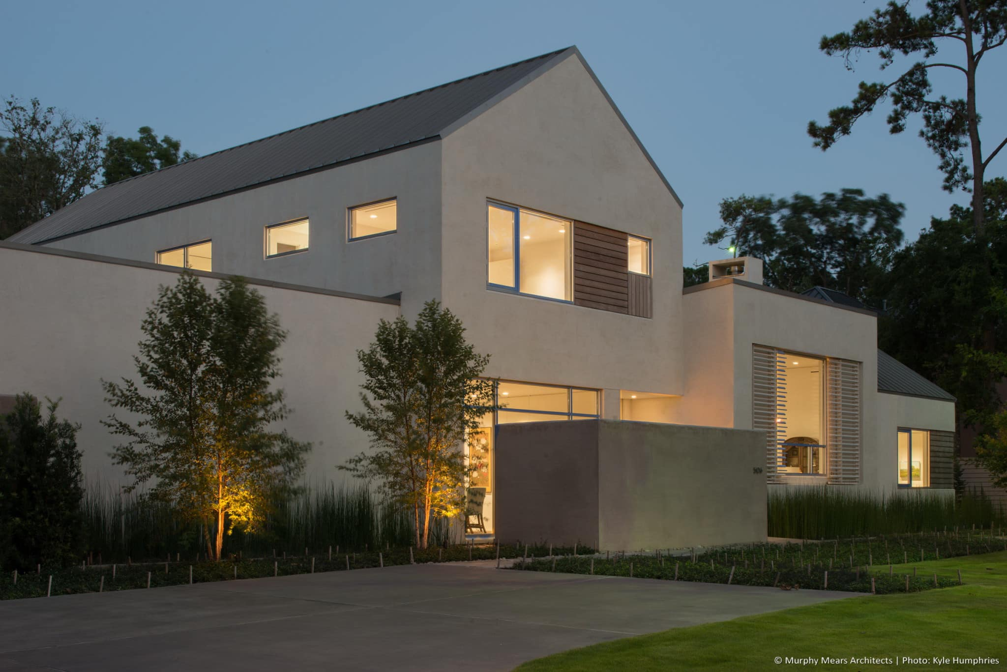 Longwoods residence murphy mears architects for Exterior house finishes