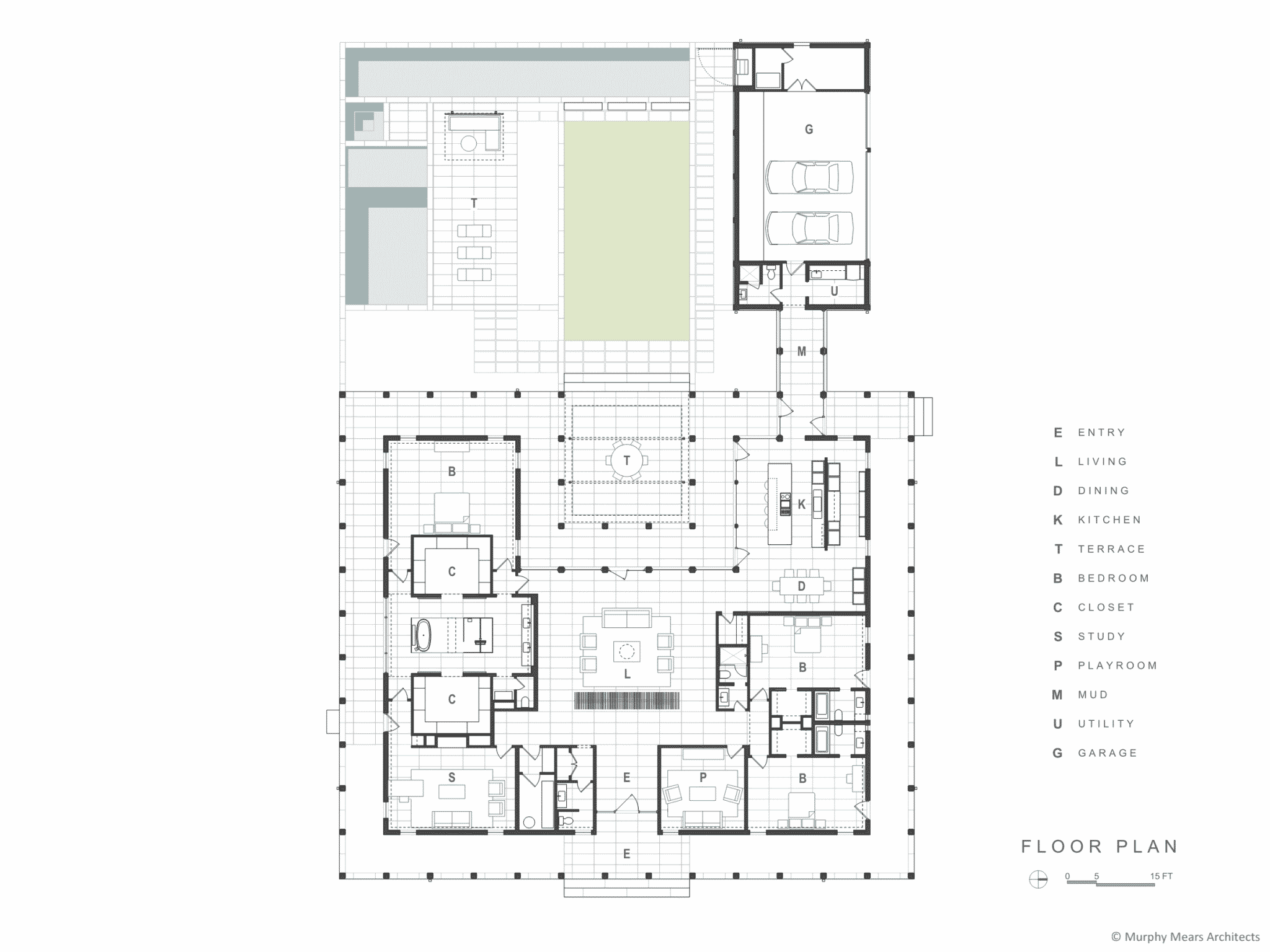 Reconfigured floor plan and back yard.