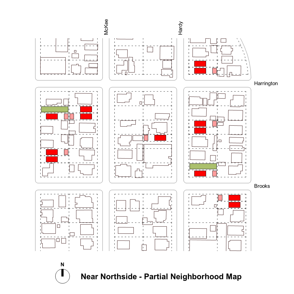 Affordable Housing Competition - City of Houston and AIA - Complete The Community - Area Plan with Multiple Sites.
