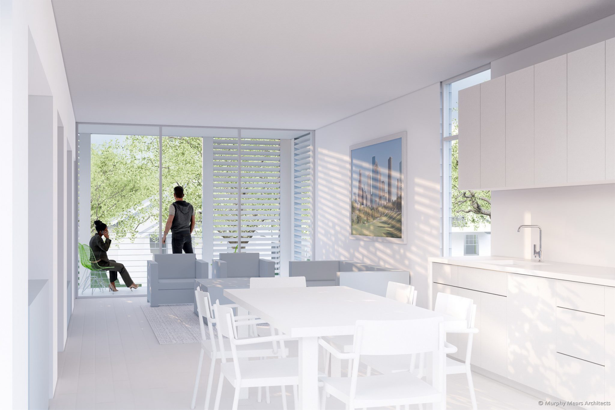 Affordable / Sustainable Housing Competition - City of Houston and AIA - Complete The Community - Interior Living Space.