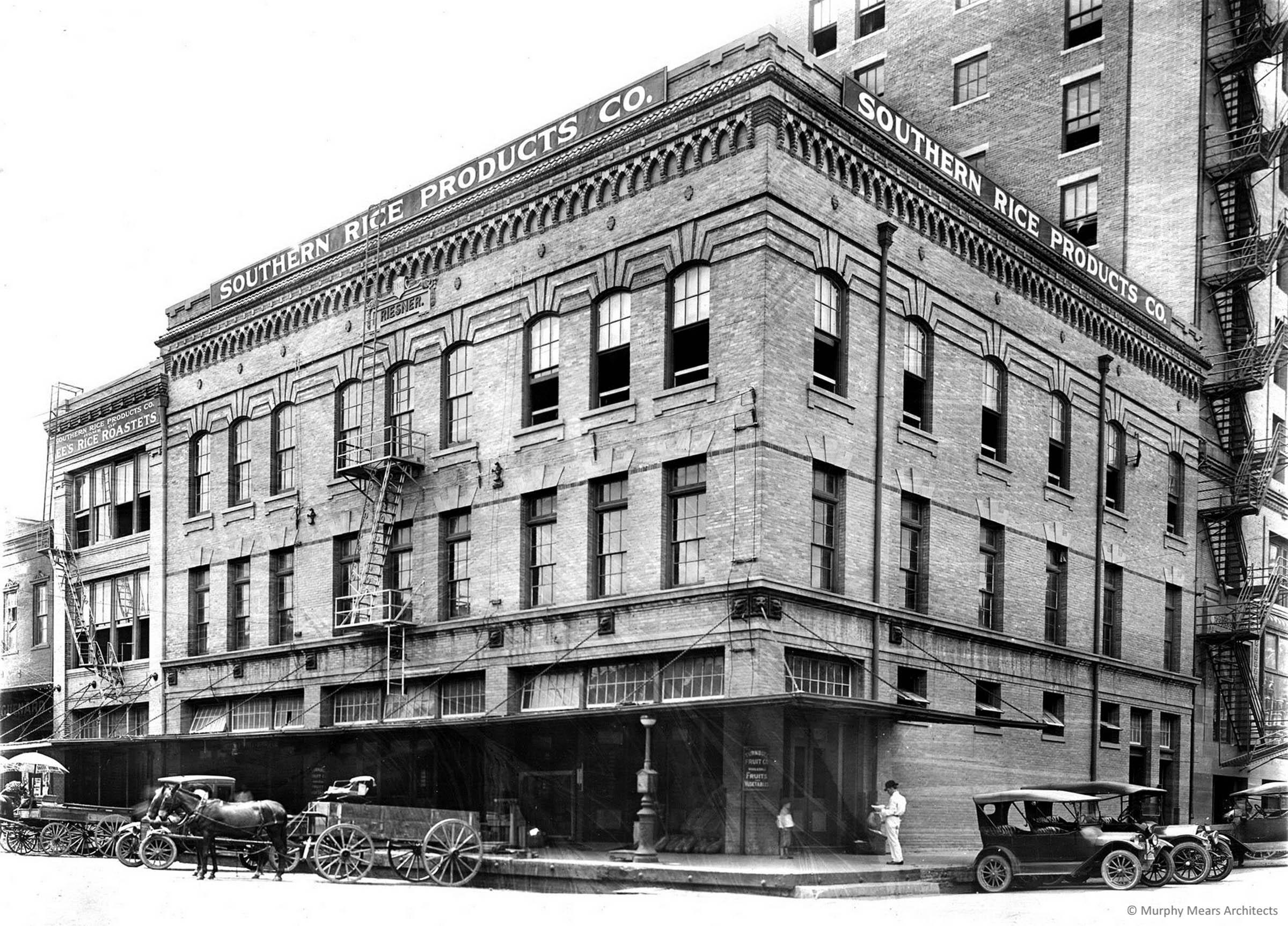 Architecture Center Houston - Riesner Building original historic exterior.
